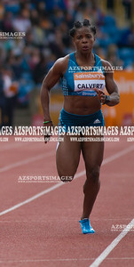 IAAF DIAMOND LEAGUE-Birmingham Women  100m Heat 2 Schillonie Calvert (Jam)