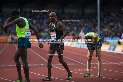 IAAF DIAMOND LEAGUE-Birmingham Men-Two Miles Mo Farah  new world record time of 8:07:85
