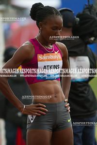 IAAF DIAMOND LEAGUE-Birmingham Women  400m  Joanna Atkins of the USA