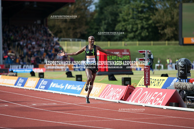 IAAF DIAMOND LEAGUE-Birmingham Men-Two Miles Mo Farah crosses the line in a new world record time of 8:07:85