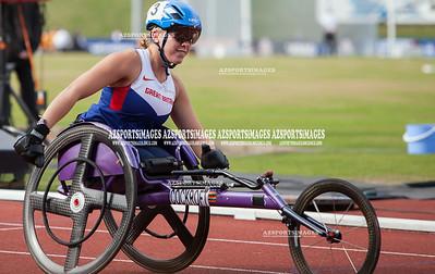 IAAF DIAMOND LEAGUE-Birmingham Women T34 100m Hannah Cockcroft (GB) winner in 19.04 –meeting record