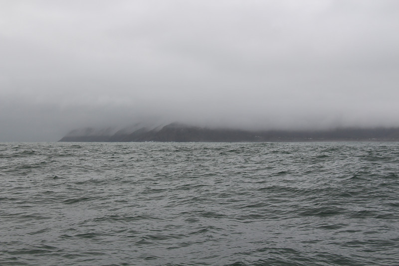 In the ocean outside of Valdivia. A foreboding coastline for many, many miles.