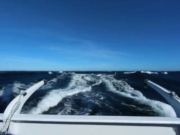 VIDEO:<br /> Third day out, mizzen unreefed. The next video segment, shot one minute later inside the pilothouse provides an interesting contrast.
