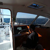 VIDEO: <br /> Relatively peaceful inside. Ann writing, Mike asleep in the nav station chair.