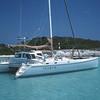 Anchored in 3 feet of water, Exuma Cays, Bahamas