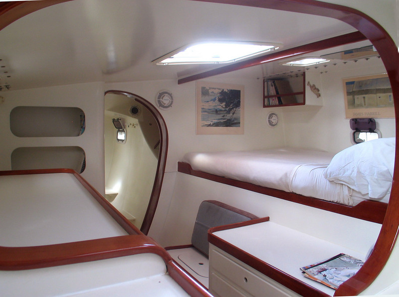 """Sunbow"", Port hull mid cabin."