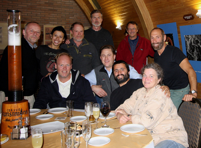 Alwoplast Launch Party<br /> Back row, L to R: Alex Wopper, Carolina Becerra, Chris White, Roni Klingenberg, Bob Goodchild, Norm Ness<br /> Front: Ron Verweij, Alexander Kaufmann, Santiago Becerra, Dale Norley