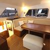 Pilothouse, starboard side dining table