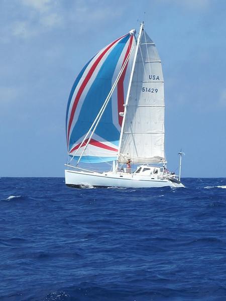 "Sib Reppert's ""Catalyst"" strutting her stuff on the way to Bermuda."