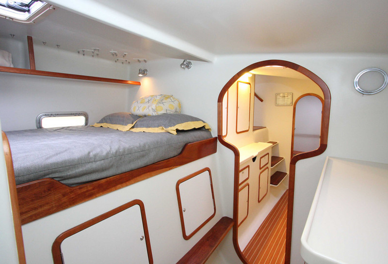 Port double cabin, looking aft.