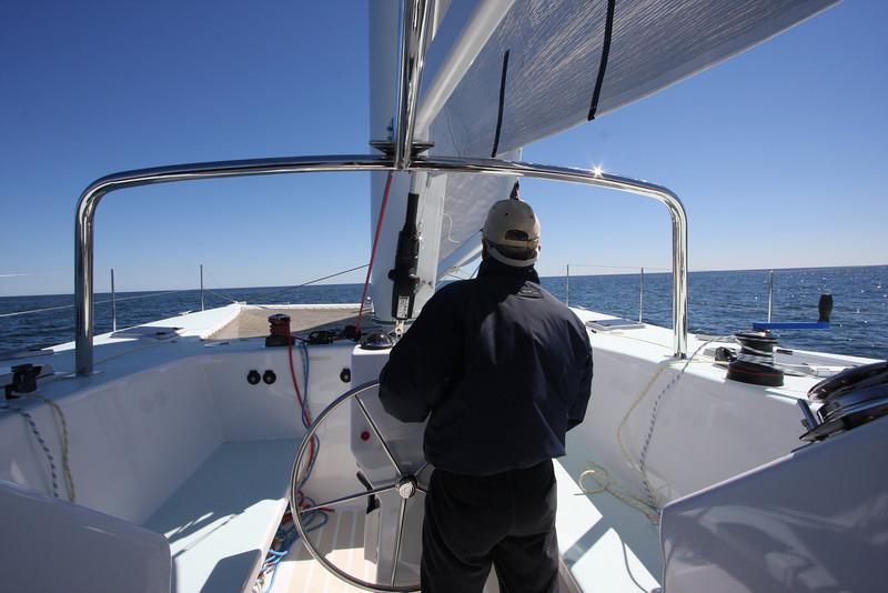 Atlantic 47 Cockpit offers a race boat feel.