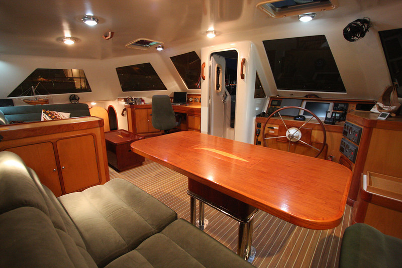 "Pilothouse looking to port; A55 ""SEGUE"""