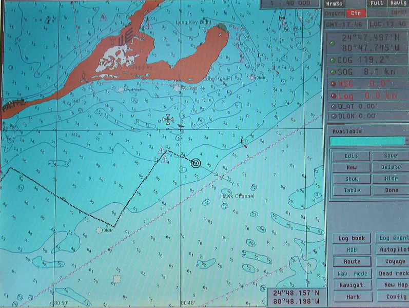 Exceptional windward performance evidenced by tracks laid down on chart plotter.