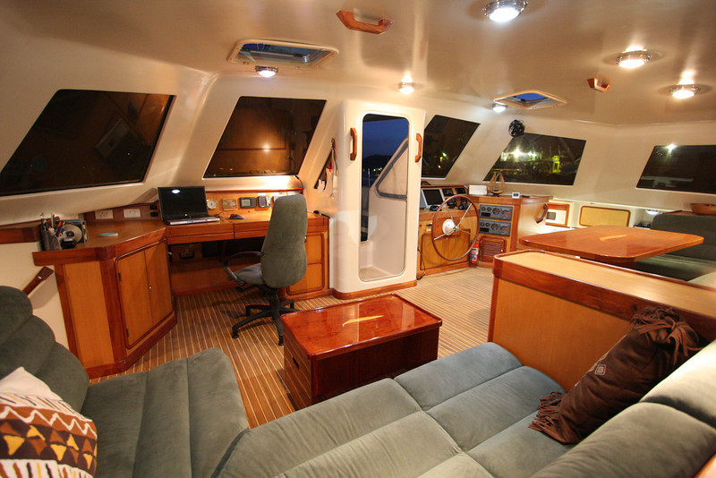 """Pilothouse looking to starboard, A55 """"SEGUE"""""""