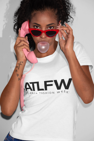 Model wearing ATLFW Official Tee