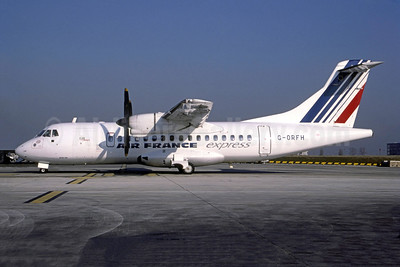 Air France Express - Gill Airways ATR 42-320 G-ORFH (msn 346) (Bruce Drum Collection). Image: 951558.