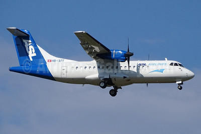 ASL Airlines (Switzerland) ATR 42-320 (F) HB-AFF (msn 264) BSL (Paul Bannwarth). Image: 934374.