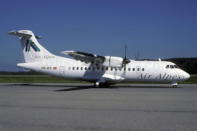Air Alpes (Switzerland) ATR 42-300 HB-AFB (msn 072) ZRH (Rolf Wallner). Image: 921794.