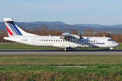 Air France by Airlinair ATR 72-212A (ATR 72-500) F-GVZM (msn 590) BSL (Paul Bannwarth). Image: 911782.
