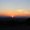 Sunset from Sunset Rock along Highway 70 near Sparta, TN
