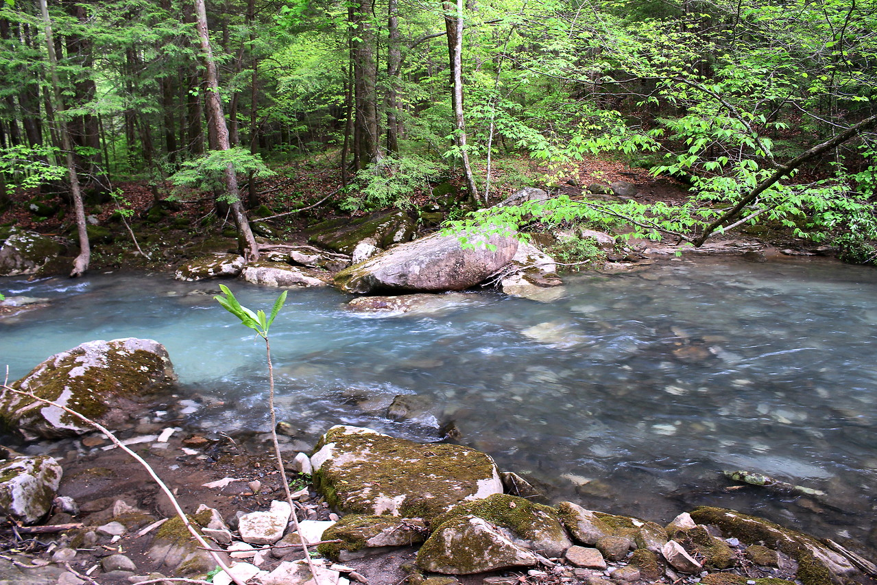 Second ford of Big Piney Creek