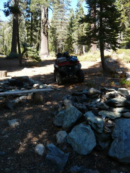 My camp just off Gold Valley trail (trail is about 100 yards behind Grizzly).