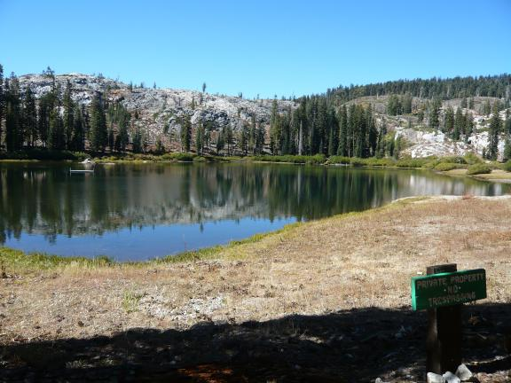Hawley Lake (private property).