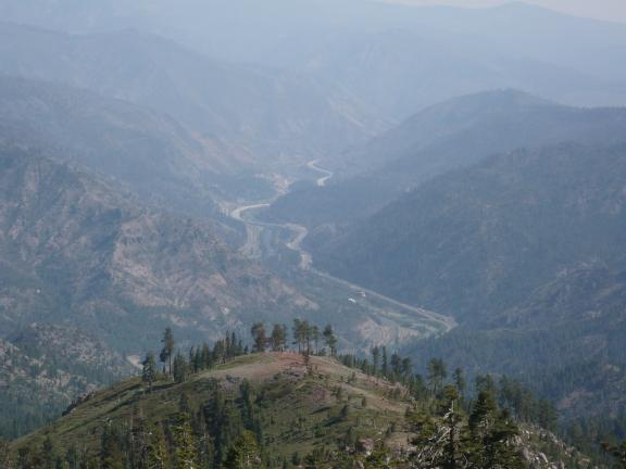 I-80 in Truckee River canyon from Verdi Peak (looking SSE)