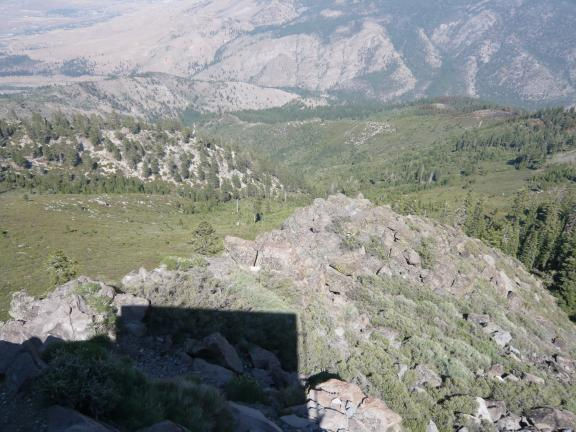 Rocks and drop-off below Verdi Peak (looking East)