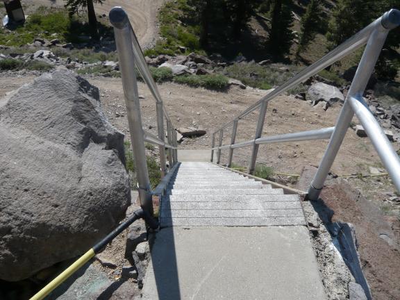 Verdi Peak lookout stairs