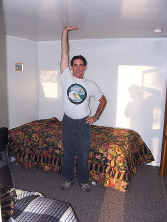 "Dennis in the ""Hobbit Hotel"" (Junction Motel in downtown Junction, Utah)."