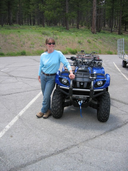 Tamar and her Blue Grizzly on its first day out. A few hours later, it had its first flat tire. Dohhhh!!!
