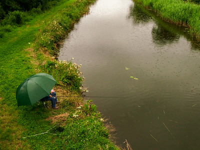 Fishing in drizzle, south of Vicarstown