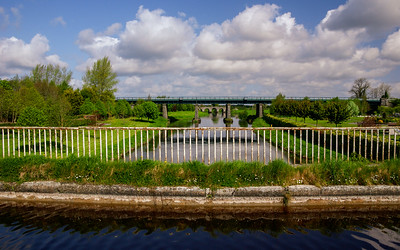 The Monasterevin Aqueduct carries the canal across the River Barrow