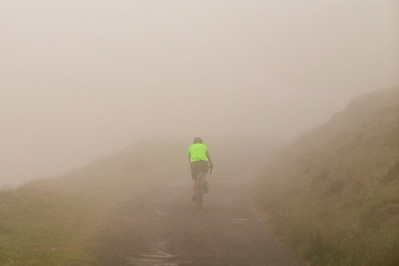 Descending from Black Mountain in fog