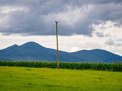 View towards the Galtee Mountains