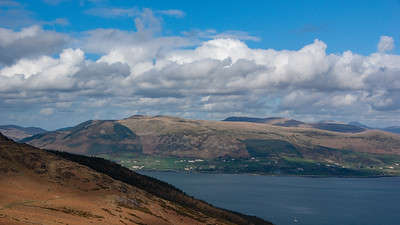 Carlingford Lough and the Mourne Mountains from Slieve Foye