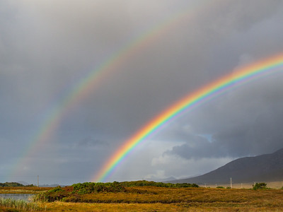 Double rainbow near Maum Cross