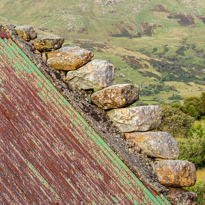 Weathered roof, Maum Valley