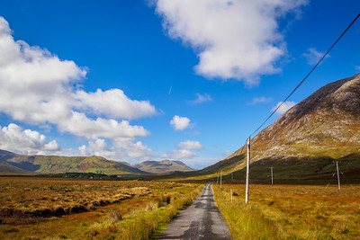 Minor road in the Inagh Valley