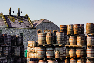 Barrels at Kilbeggan Distillery
