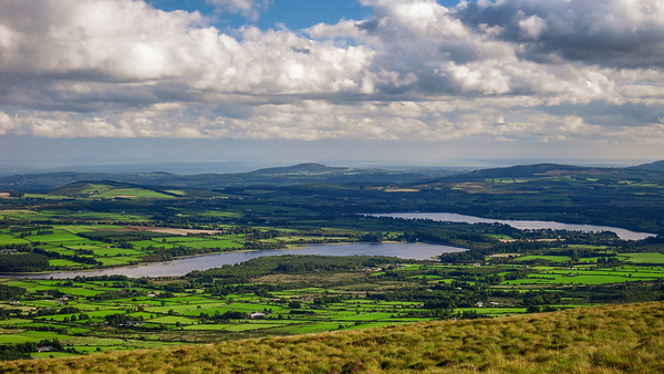 Towards the Vartry Reservoirs from White Hill