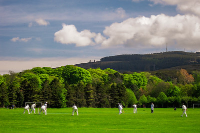 Sandyford Cricket Club, Marlay Park, overlooked by Three Rock Mountain