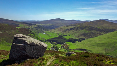 Looking down at the Cloghoge Valley