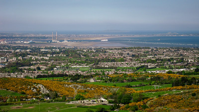 View over south Dublin from Kilmashogue