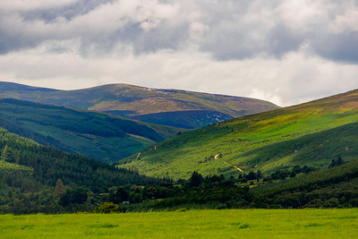 Towards the Wicklow Mountains from Trooperstown