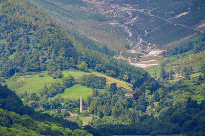 Glendalough and Glendasan from Trooperstown Hill