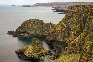 Cliffs west of Dunseverick Castle
