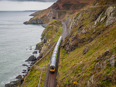 The Cliff Walk mainly follows a route above the railway