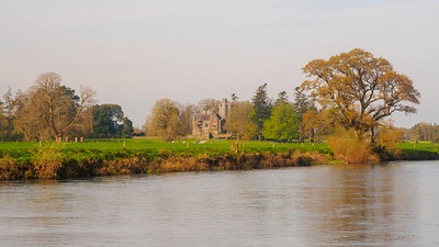 Castle Gurteen de la Poer, from the north bank of the Suir